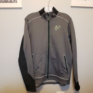 Under Armour USF Jacket Gray/Green Logo Si…